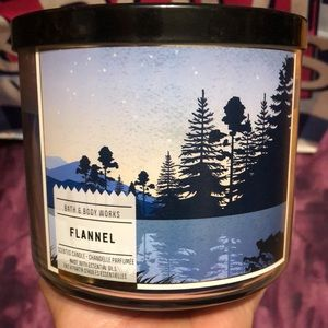 Bath and Body Works 3 wick Candle Flannel